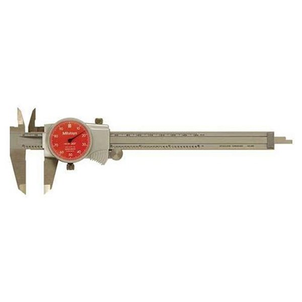 "Mitutoyo 505-745-54 Inch with 1"" Per One Revolution Dial Caliper"