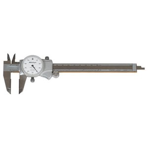 "Mitutoyo 505-738 Inch with 1"" Per One Revolution Dial Caliper"