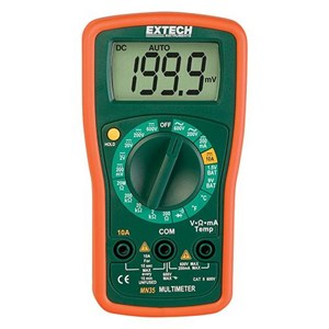 Extech MN35 Manual Ranging 8 Functions Digital Mini Multimeter