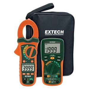 Extech ETK35 Clamp Meter 400 A with Electrical Test Kit