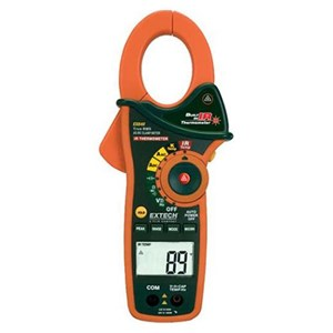 Extech EX840 IR Thermometer and True RMS AC-DC 1000 A Clamp Meter