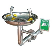 CIG 21CIG15011000 Stainless Steel Wall Mounted with Flange Eye Wash 1