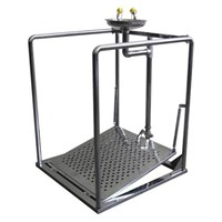 CIG 21CIG15015000 Stainless Steel Pedestal with Support Eye Wash 1