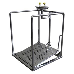 CIG 21CIG15015000 Stainless Steel Pedestal with Support Eye Wash