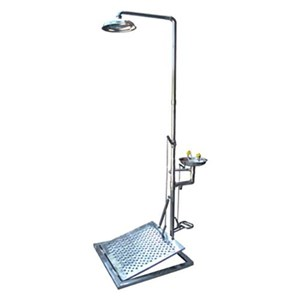 CIG 21CIG15038500 Galvanised and Painted Pedestal Mounted With Mini Panel Eye Wash