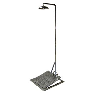 CIG 21CIG15028000 Stainless Steel Pedestal Mounted with Mini Panel Eye Wash