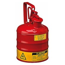 Justrite 10301 Type I Red Small Capacity Trigger Safety Container