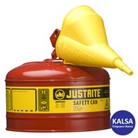 Justrite 7125110 Type I Red Larger Capacity Trigger Safety Container