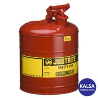 Justrite 7150100 Type I Red Larger Capacity Trigger Safety Container