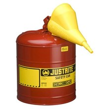 Justrite 7150110 Type I Red Larger Capacity Trigger Safety Container
