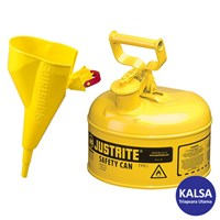 Justrite 7110210 Type I Yellow Larger Capacity Trigger Safety Container