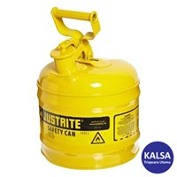 Justrite 7120200 Type I Yellow Larger Capacity Trigger Safety Container