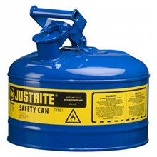 Justrite 7125300 Type I Blue Larger Capacity Trigger Safety Container