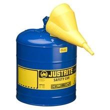 Justrite 7150310 Type I Blue Larger Capacity Trigger Safety Container