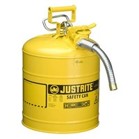 Justrite 7250230 Type II Yellow AccuFlow with Hose Safety Container