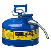 Justrite 7225320 Type II Blue AccuFlow with Hose Safety Container