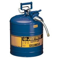 Justrite 7250320 Type II Blue AccuFlow with Hose Safety Container