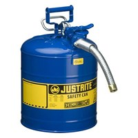 Justrite 7250330 Type II Blue AccuFlow with Hose Safety Container