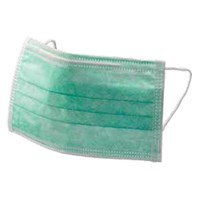 Trasti TFM 205 Tie On Green 3 Ply Facemask
