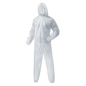 Trasti TCA 101 Withe Coverall with Hood