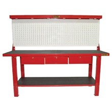 Osteq TWB150P Metal Work Bench 2 and 3 Drawer with Tool Panel