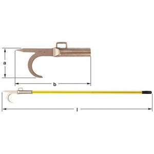 Dari Ampco PP-96 Non-Sparking Firemans Hook with Fiberglass 0