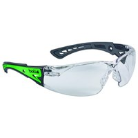 Bolle RUSHPGLO Clear Rush+ Glow Safety Glasses Eye Protection 1