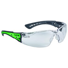 Bolle RUSHPGLO Clear Rush+ Glow Safety Glasses Eye Protection