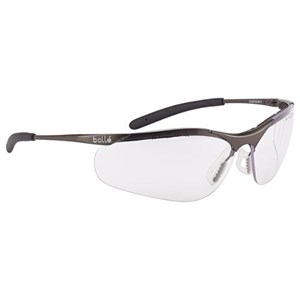 Bolle CONTMPSI Clear Contour Metal Safety Glasses Eye Protection