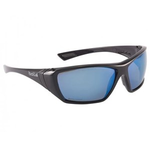 Bolle HUSTFLASH Polarized Blue flash Hustler Safety Glasses Eye Protection