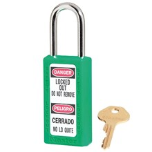 Master Lock 411MKGRN Master Keyed Safety Padlocks