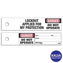 Master Lock S297 Maintenance Lockout Safety Tags