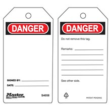 Master Lock S4058 Guardian Extreme Safety Tags