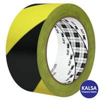 3M 766 Black Yellow Stripe Hazard Marking Industrial Tape