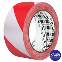 3M 767 Red White Stripe Hazard Marking Industrial Tape