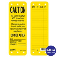 Master Lock S4701 Scaffolding Tags Safety Tag