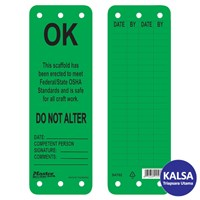 Master Lock S4702 Scaffolding Tags Safety Tag