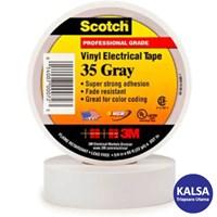 3M Scotch 35-GRAY-3/4 Vinyl Color Coding Electrical Tape 1