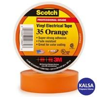 3M Scotch 35-ORANGE-1/2 Vinyl Color Coding Electrical Tape