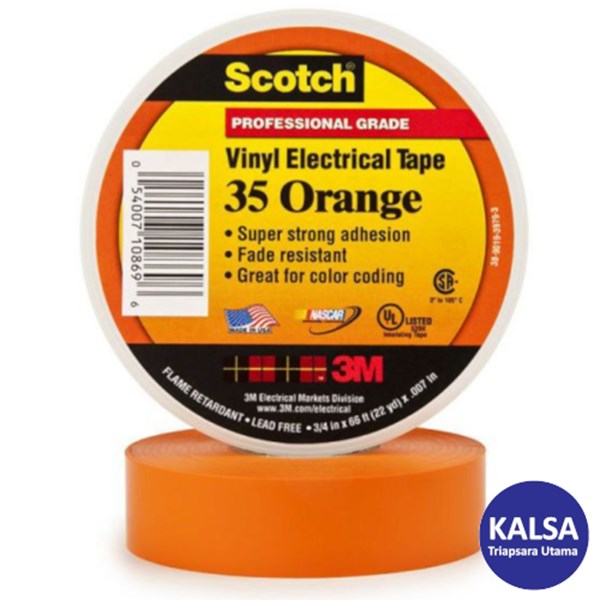3M Scotch 35-ORANGE-1/2 Vinyl Color Coding Electrical Tape