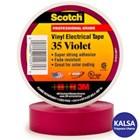 3M Scotch 35-VIOLET-3/4 Vinyl Color Coding Electrical Tape 1