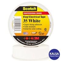 3M Scotch 35-WHITE-3/4 Vinyl Color Coding Electrical Tape