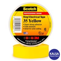 3M Scotch 35-YELLOW-1/2 Vinyl Color Coding Electrical Tape 1