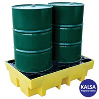 Solent SOL-741-0082A 2-Drum Spill Pallet Spill Containment