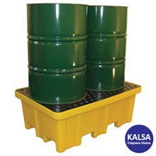 Solent SOL-741-0092A 2-Drum 4-Way Spill Pallet