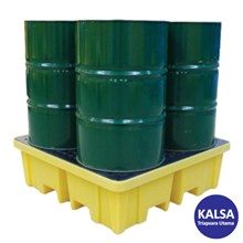 Solent SOL-741-0094C 4-Drum 4-Way Spill Pallet Spill Containment