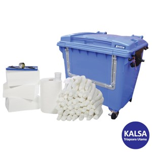Dari Solent SOL-742-1830F Wheeled Drop Front Bin 1000 Lt Oil-Only Spill Kit 0