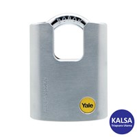 Yale Y122-50-123 Silver Series Outdoor Brass or Satin Closed Shackle Padlock 1