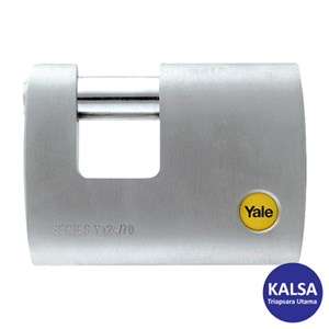 Yale Y124-70-115 Silver Series Outdoor Brass Straight Shackle 70 mm Padlock