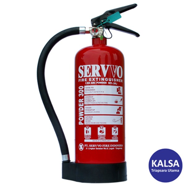 Servvo P300 ABC90 ABC Dry Chemical Powder Fire Extinguisher